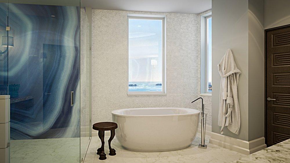 A Trasitional Master Bathroom With A Twist
