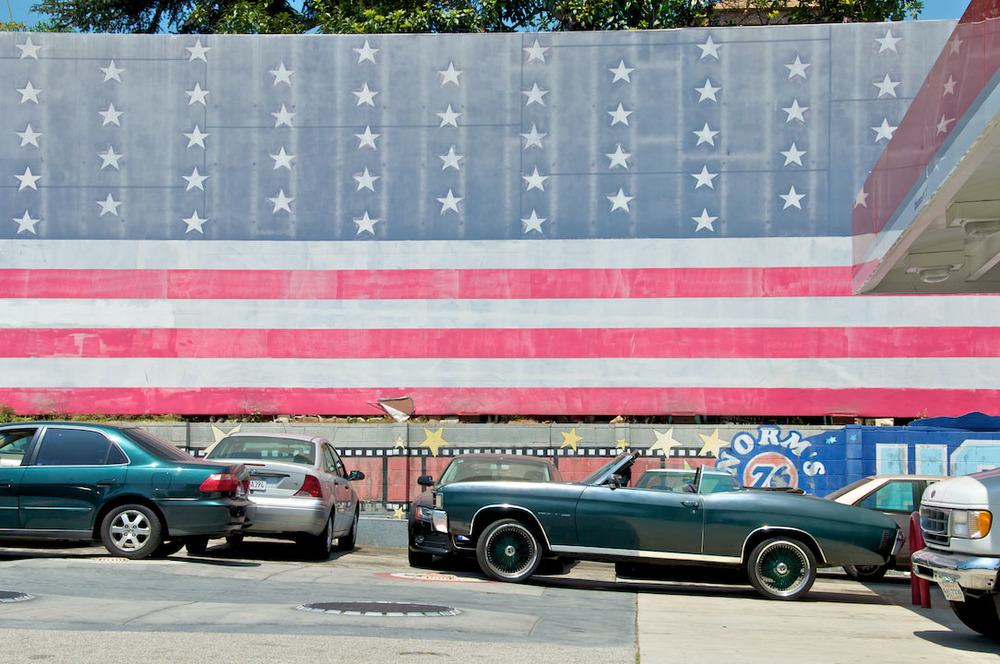 LA los angeles usa america americain flag muscle car mustang gas station cars sunny road trip freedom hot wheels.jpg