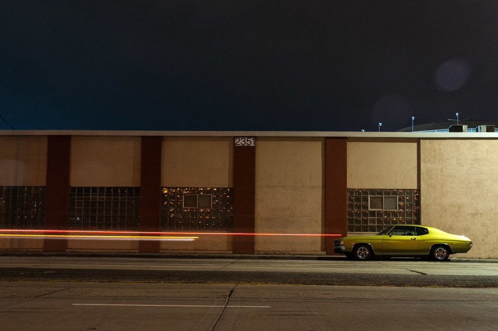 san diego ca california sd muscle car mustang camaro harbor dock night life light painting alone loneliness green camera.jpg