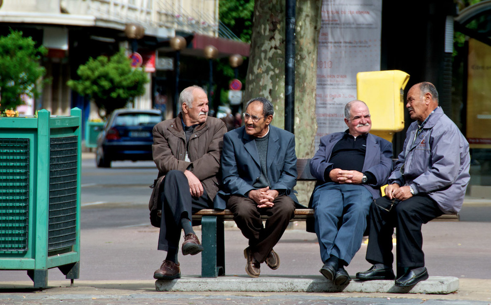 the sopranos chambery france people old men vintage oriental middle east arabes moustache mustache balled bus stop bench plants city downtown.jpg
