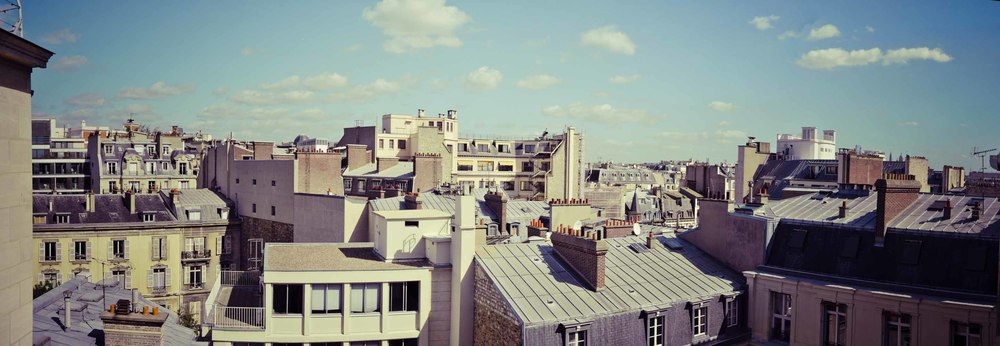Paris Roof Top vintage old sunny sun cloud nuage toit parisien vue view panoramic panoramique.jpg
