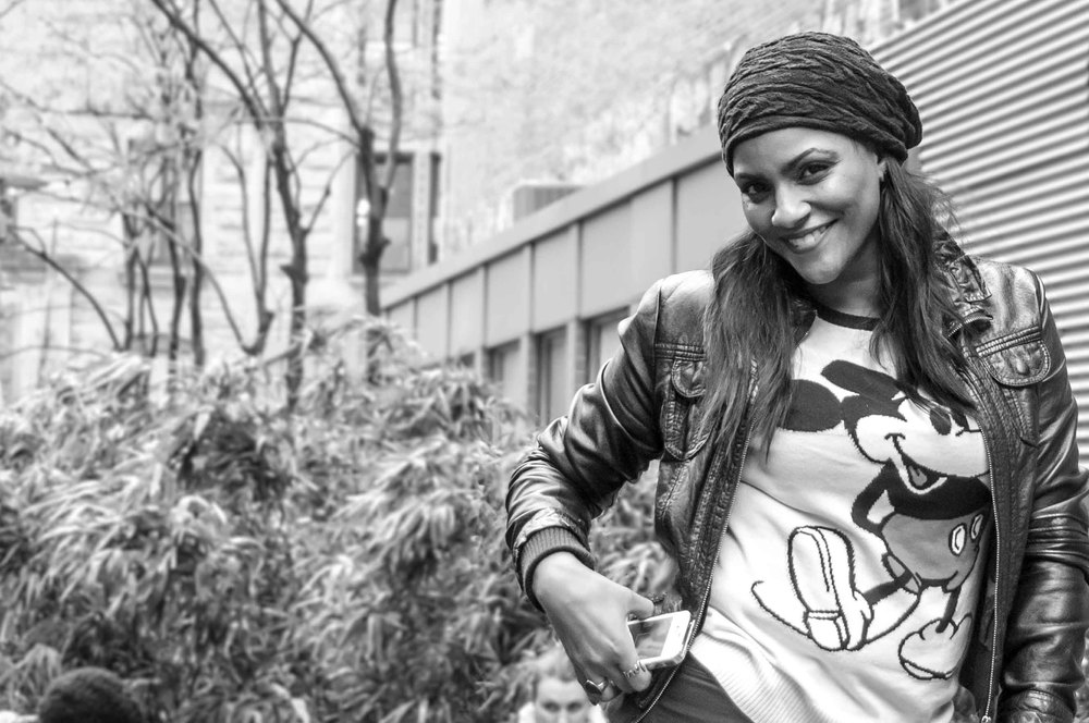 Mickey mini mouse model shooting winter fall nyc new york city usa america beauty sexy woman dominican Awilda bw black and white.jpg