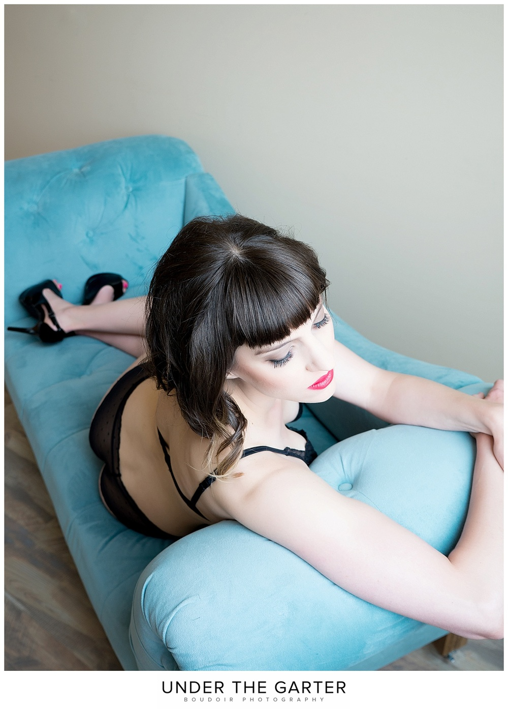 elegant blue chaise boudoir photography denver.jpg