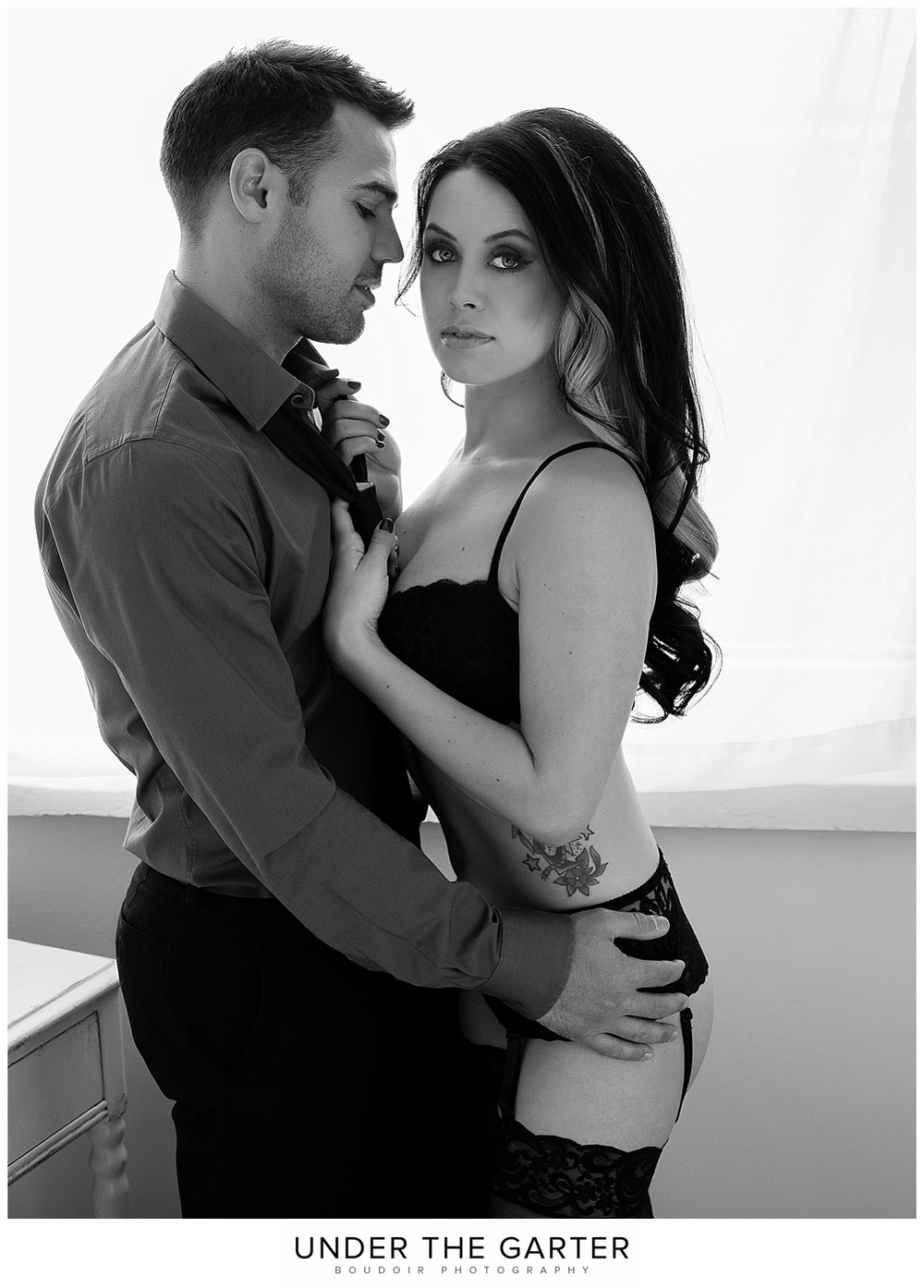 couples boudoir photography denver tie and lingerie.jpg