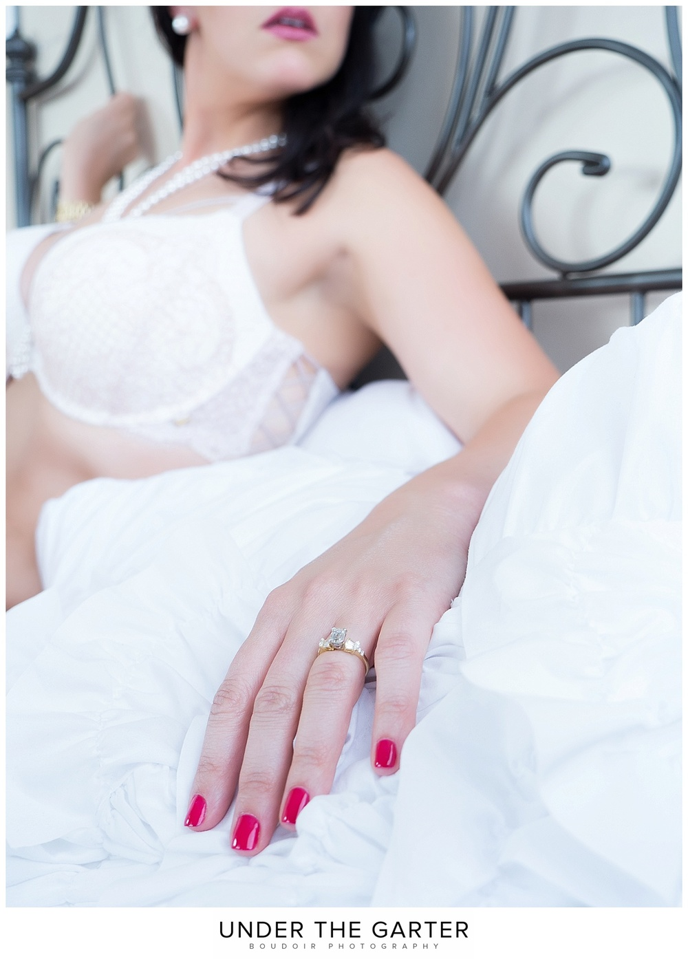 bridal boudoir ring detail white lingerie denver.jpg