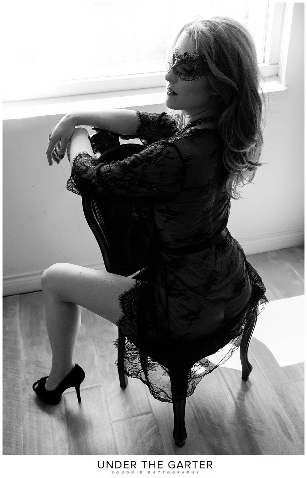 boudoir photography denver seated black lace robe.jpg