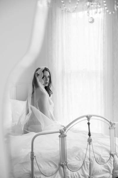 Boudoir Photo Denver Seated Cathedral Veil and Chandelier.jpg