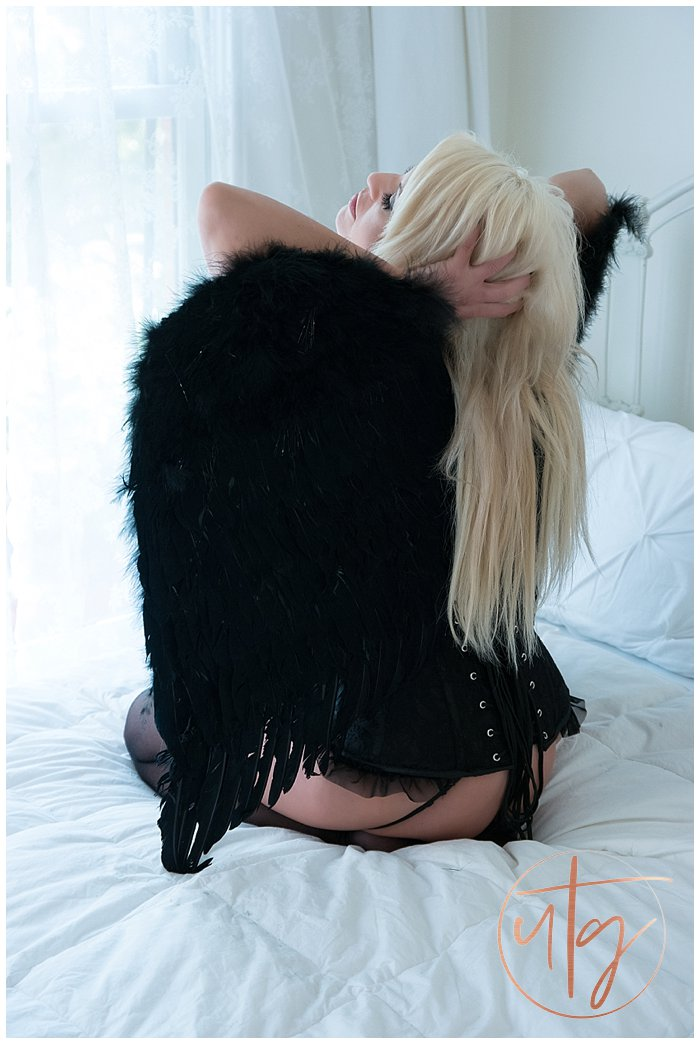 boudoir photography denver black angel wings.jpg