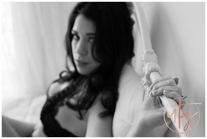 boudoir photography denver vintage bed manicure.jpg