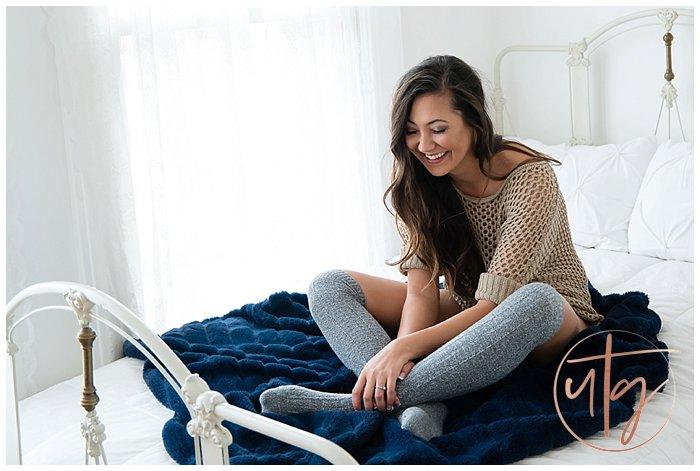 boudoir photography denver laughing sweater socks.jpg