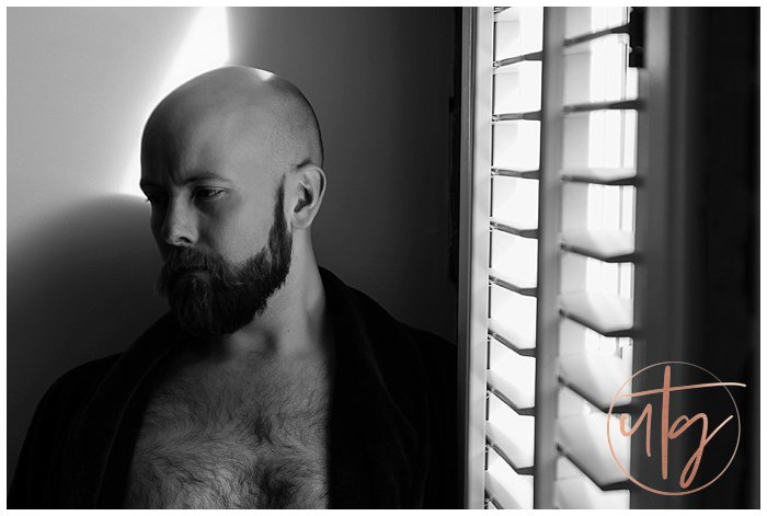 male boudoir photography denver dudoir robe bald.jpg