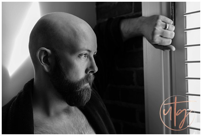 male boudoir photography denver dudoir robe bald beard.jpg