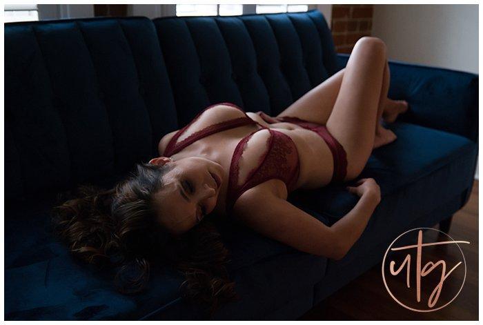 boudoir photography denver velvet couch lace bra.jpg