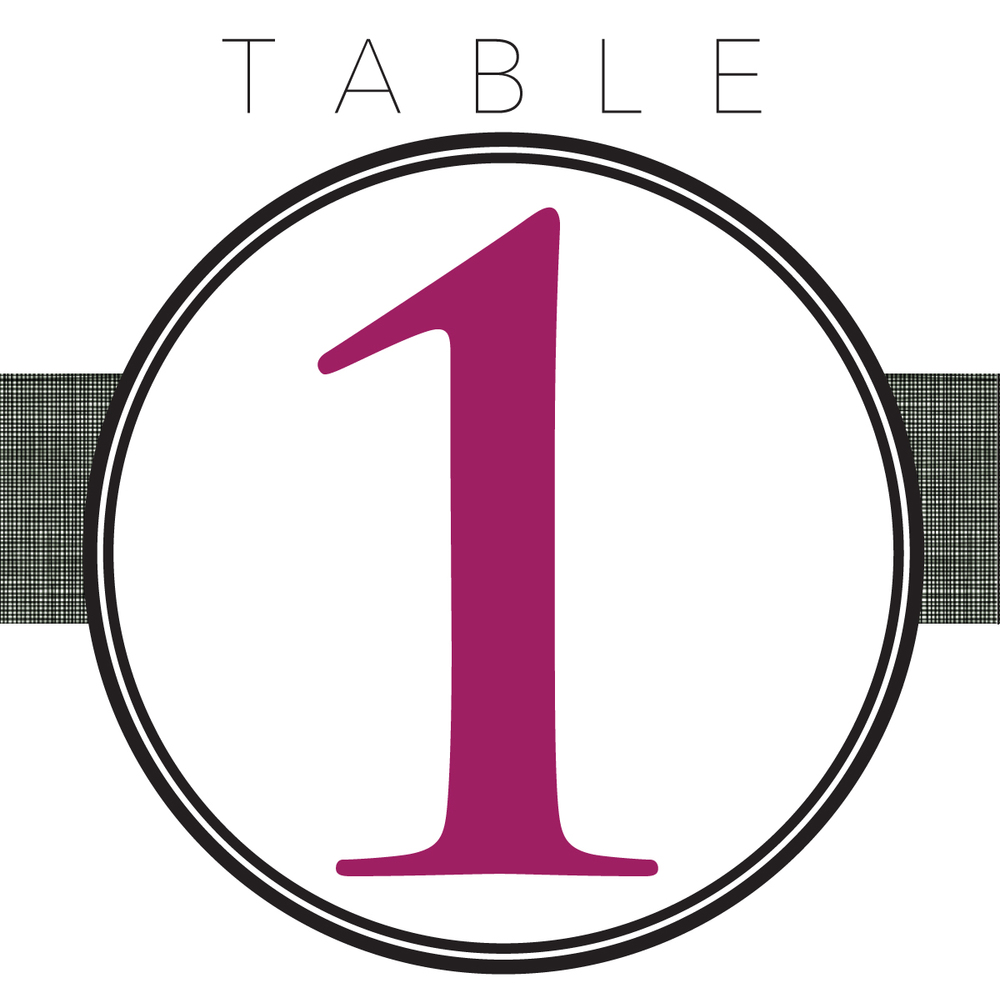 Weddings evc design for Table design numbers