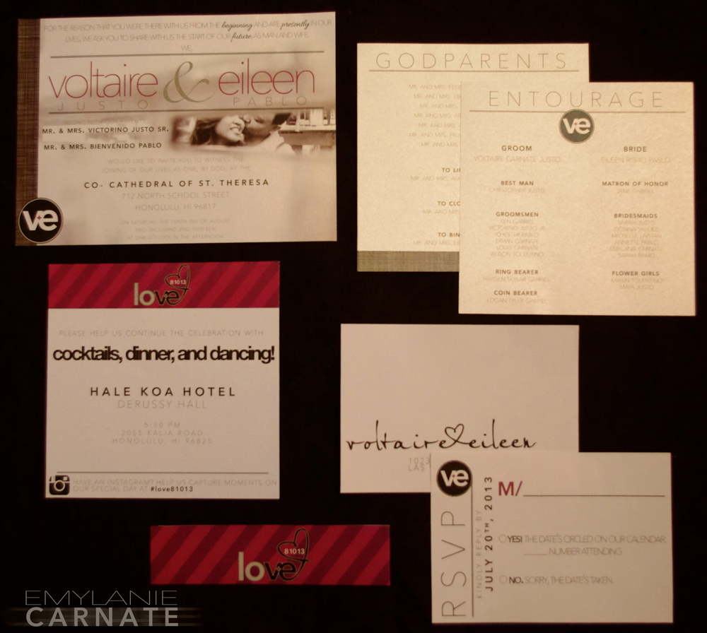 4 Piece Invitation Packet