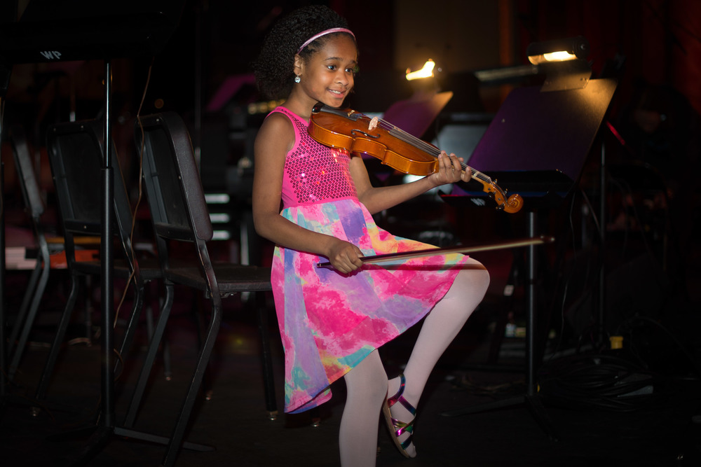 "A gorgeous young violinist from Susan Feldman's ""Hendrick Hudson Elementary Strings"". Susan teachers about 170 young string players, she is also a miracle!"