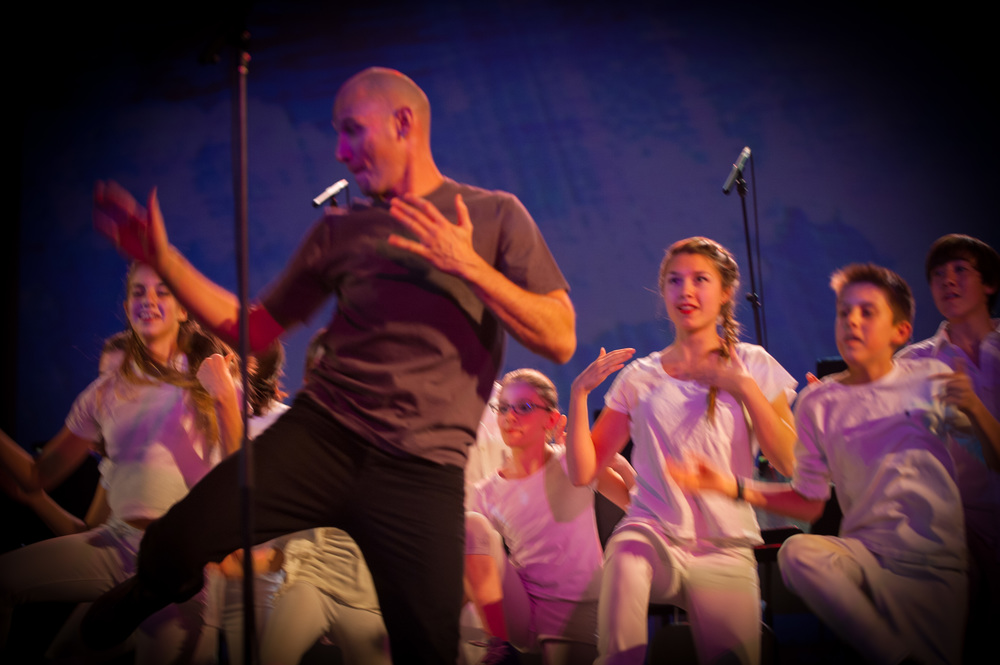 Michael Feigenbaum taught the young dancers a fabulous body percussion piece
