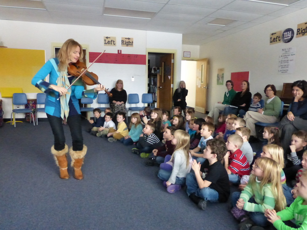 At Lake Placid Elementary School performing for the kindergarteners...