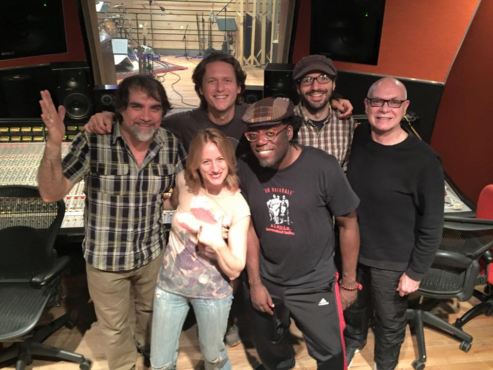 This is my amazing team: Nik Chinboukas (producer), Matt Zebroski (drums & percussion), Lavondo Thomas (electric bass), Brian Marsella (piano/keyboards/organs) & Brian Taylor (flute)