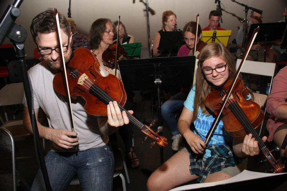 Global Music Academy Orchestra Viola Mentor and student