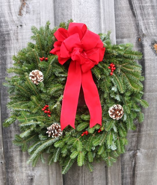 Single-sided, simply elegant wreath, $20.