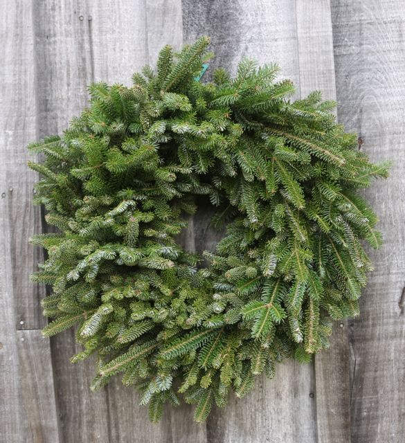 Plain single-sided wreath, $15. (Call for wholesale pricing.)