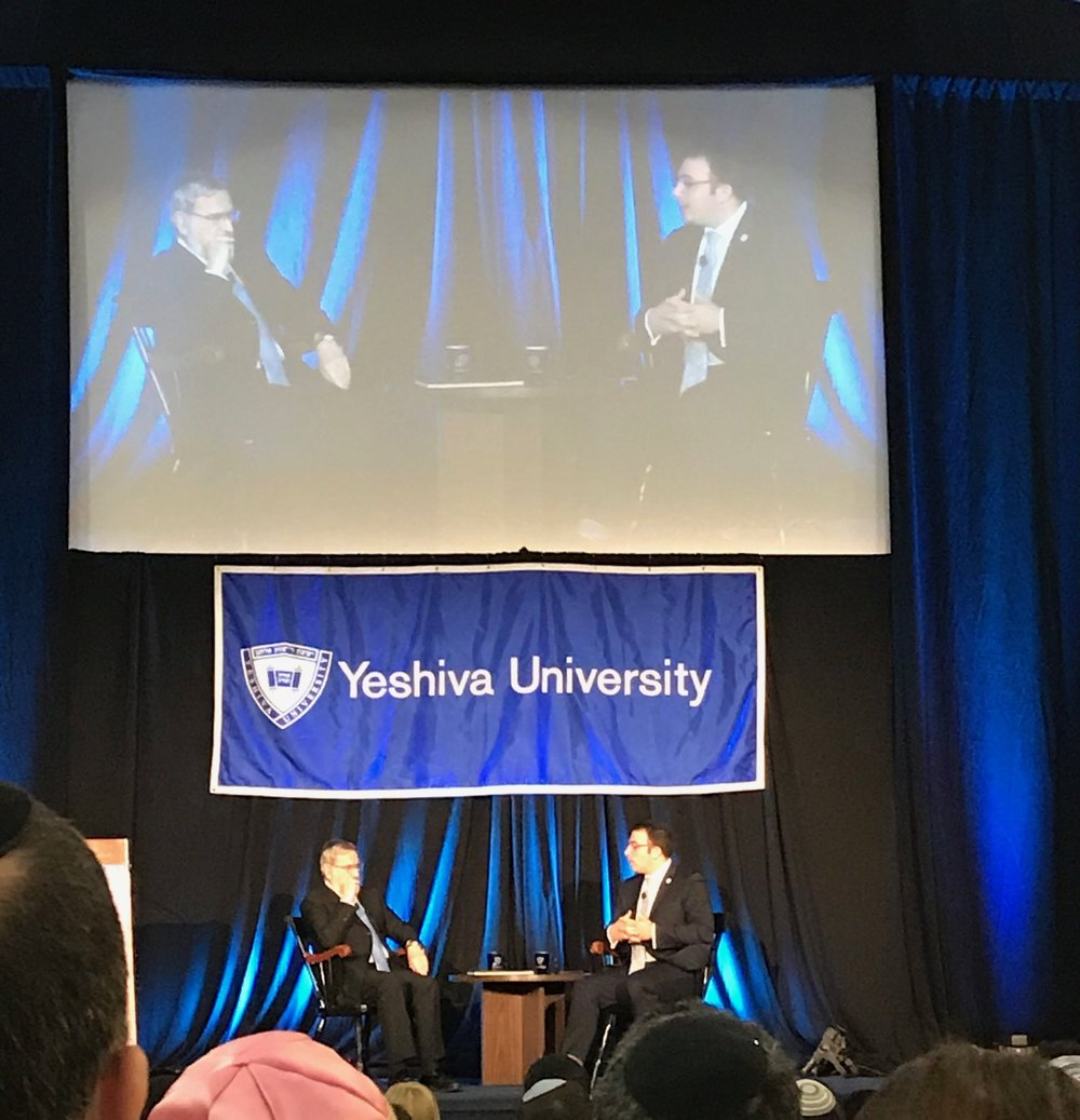 Rabbi Lord Jonathan Sacks, interviewed by Rabbi Dr. Ari Berman, President of Yeshiva University on Sunday, October 22nd, 2017.
