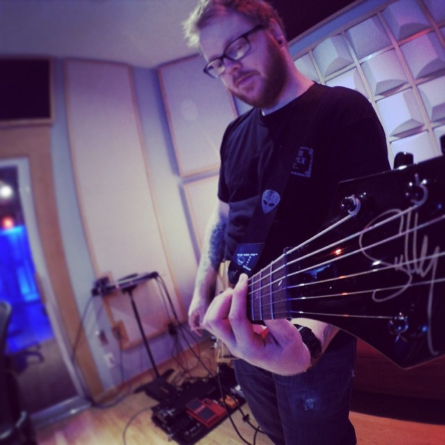 Justin and the '71 prototype hard at work in the studio