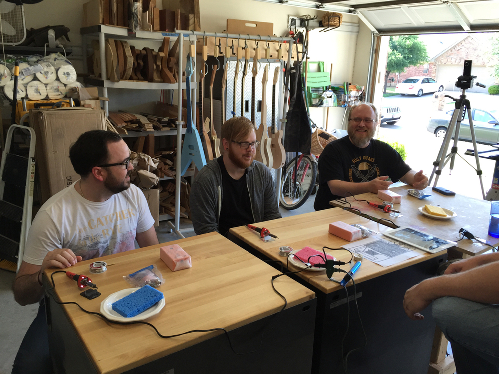 Pedal building class is about to begin!