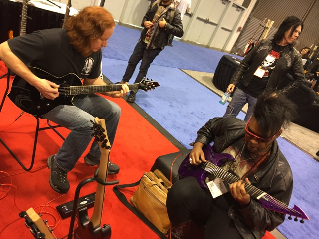 Michael and Palo in a jam session; great players!