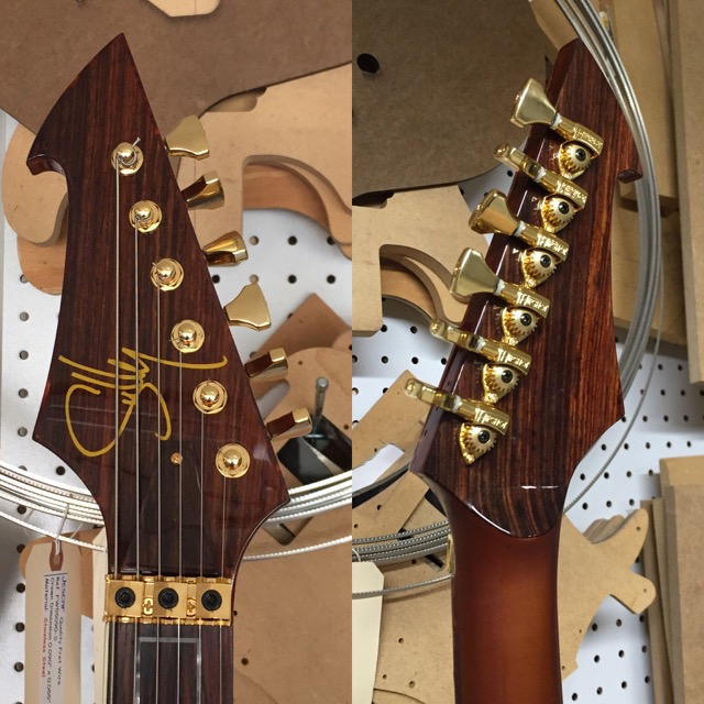 Matching rosewood veneers on the front and back of headstock, as well as the truss rod cover. AND a satin finish on the back of the neck only. Want it? Just ask.
