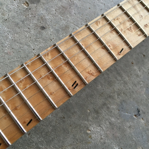 Offset slashes on Birdseye maple