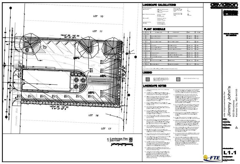 Jimmy John's Site Plan Landscape.JPG