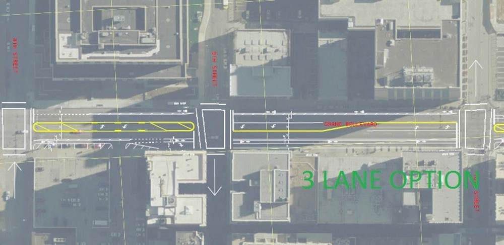 Continuous lanes, on-street parking and turn lanes for everyone!