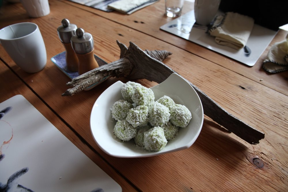 Lime Avocado frozen Truffles