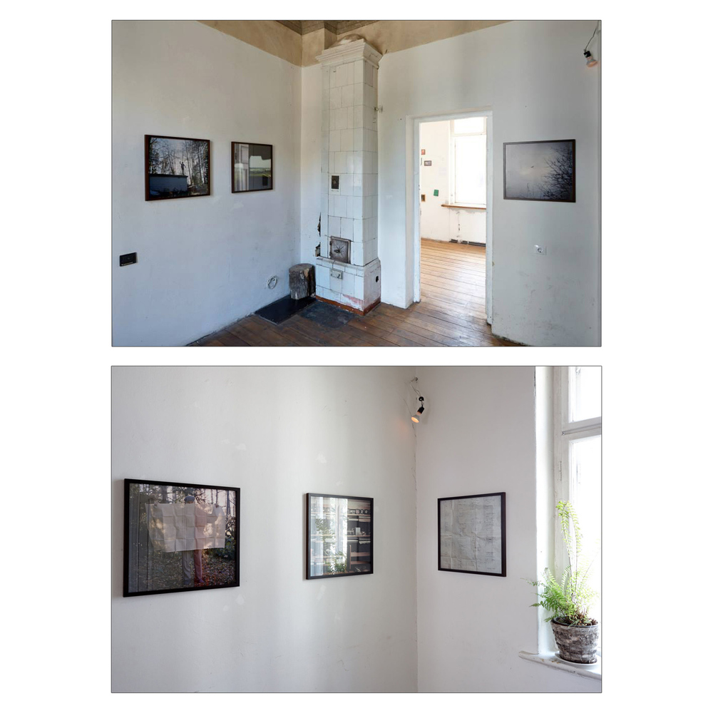 A view from group show MISFITS.  Kanepes Culture Centre, Riga.  Exhibition 60x60cm size archival pigment prints 18mm ash tree moulding with 5mm spacer