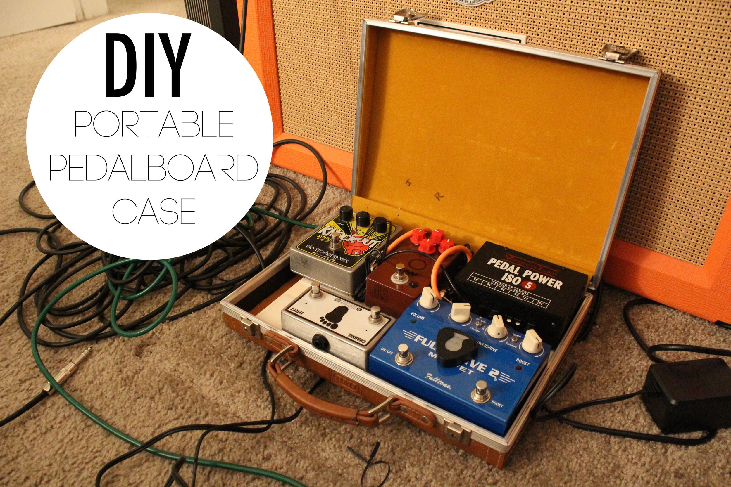 diy portable pedalboard case paige poppe. Black Bedroom Furniture Sets. Home Design Ideas