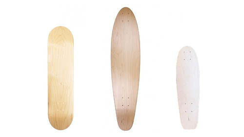 2.  You choose the deck shape: skateboard, longboard, or handmade penny deck