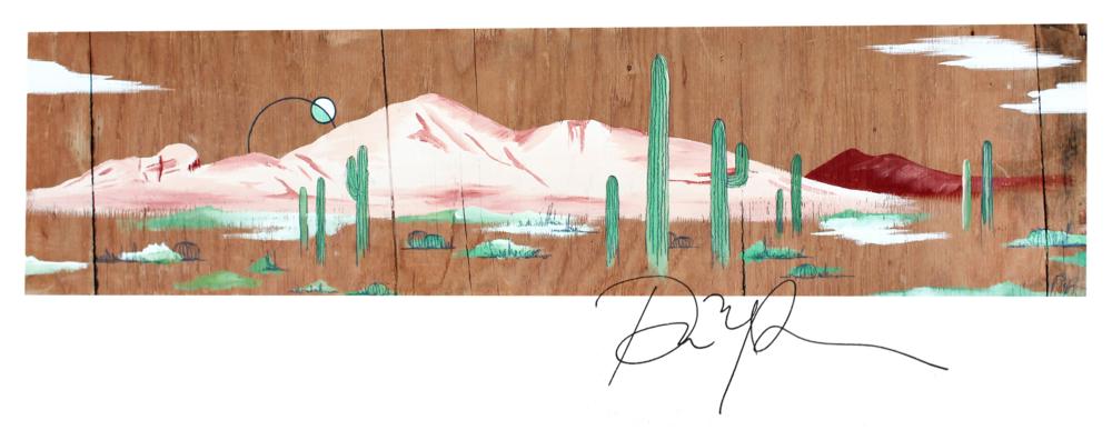"""""""Camelback Rising"""" // Acrylic on wood //2016"""