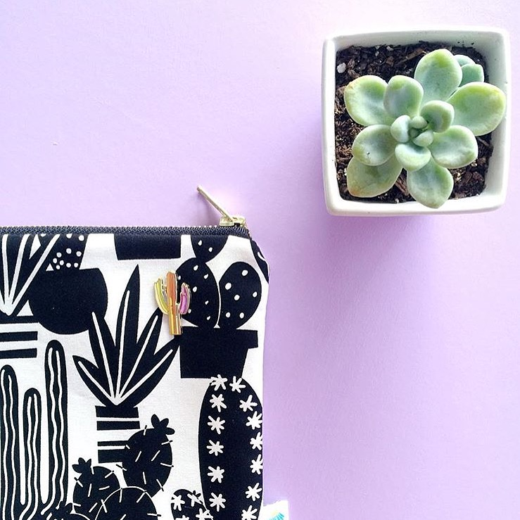 """Anyone else kind of love the enamel pin trend?"" - @daisyfayedesigns"