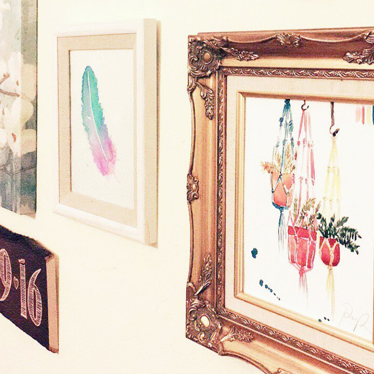 """I can't get over how cute this @PaigePoppe print looks on my friend's gallery wall."" - @DesignSqueeze"