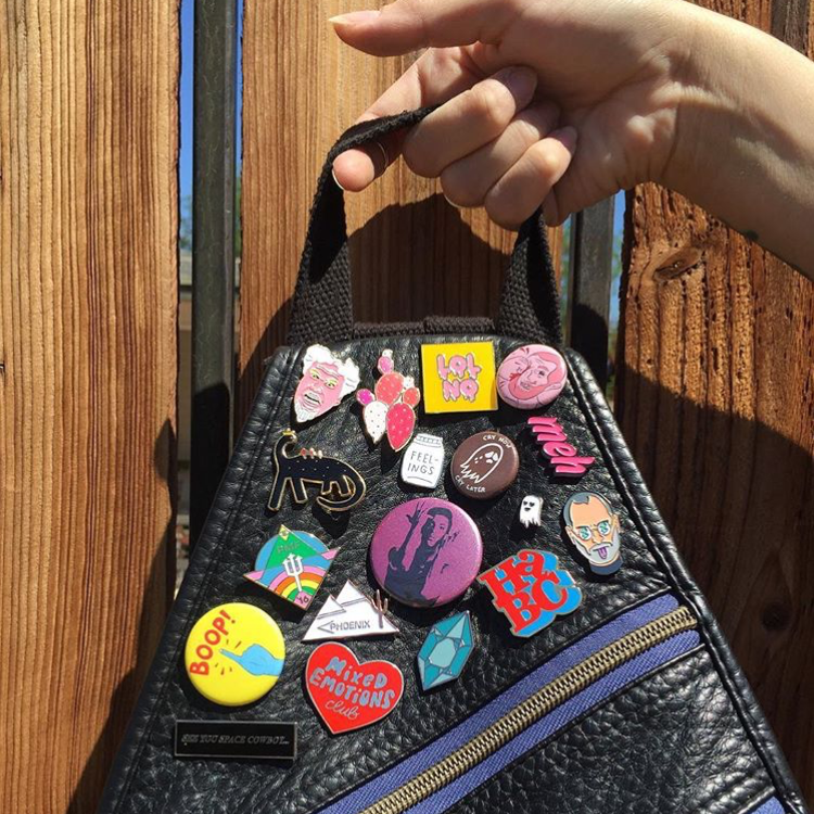 """Happy Sunday from my backpack flare to yours. #shopsmall #pingame"" - @HappyWoodCo"