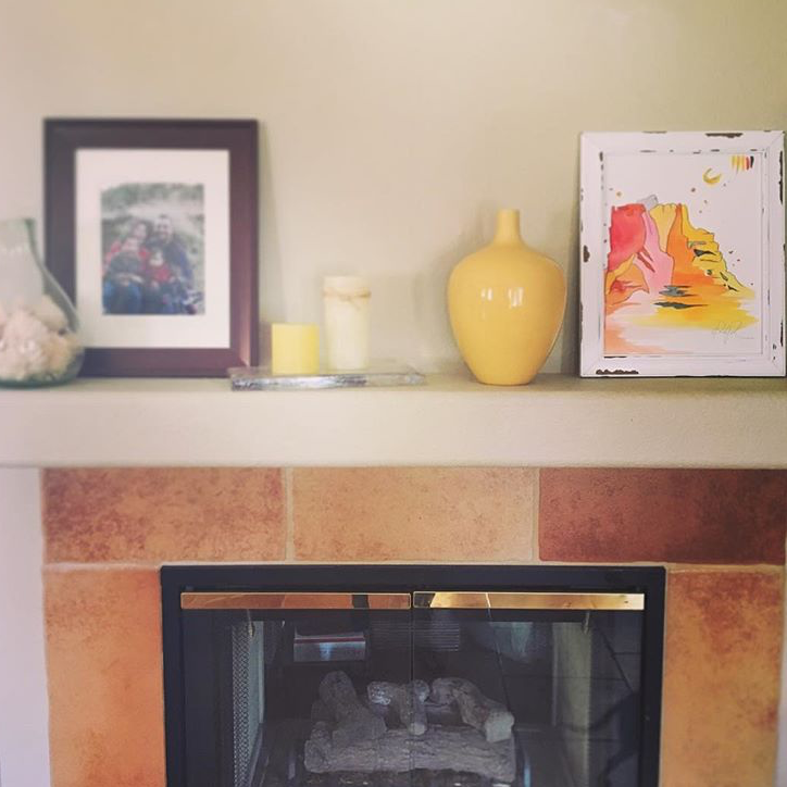 """I am loving our mantle especially with Paige's original I snagged at @PineappleTriangle"" - @jumpingcactusmama"