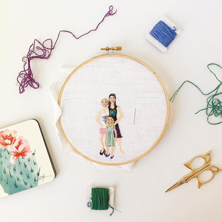 """Thread? Check. Scissors? Check. Coaster @paigepoppe? @Check. Not pictured: Coffee"" - @KateHuges.Art"