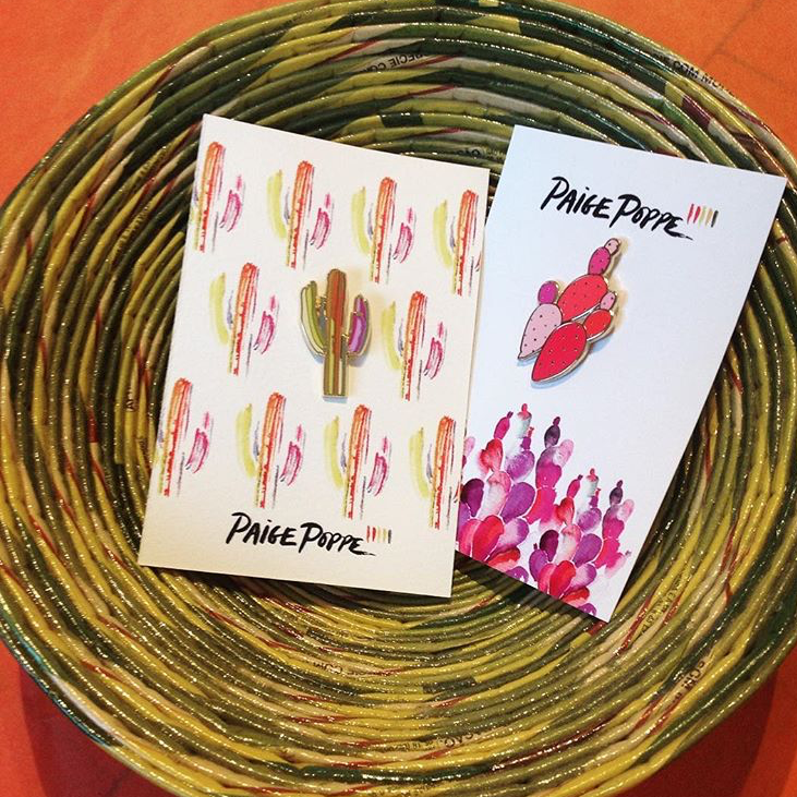 "These charming pins from @paigepoppe will make an amazing small gift from Arizona, won't they?"" - @MadeArtBoutique"