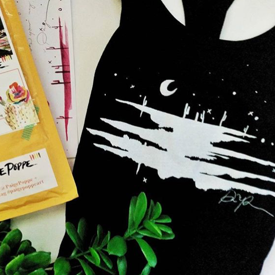 """Beyond excited to wear my @PaigePoppe ""Desert Dusk"" tank! I'm so happy to be a collector of her desert magic."" - @JosalynWilder"