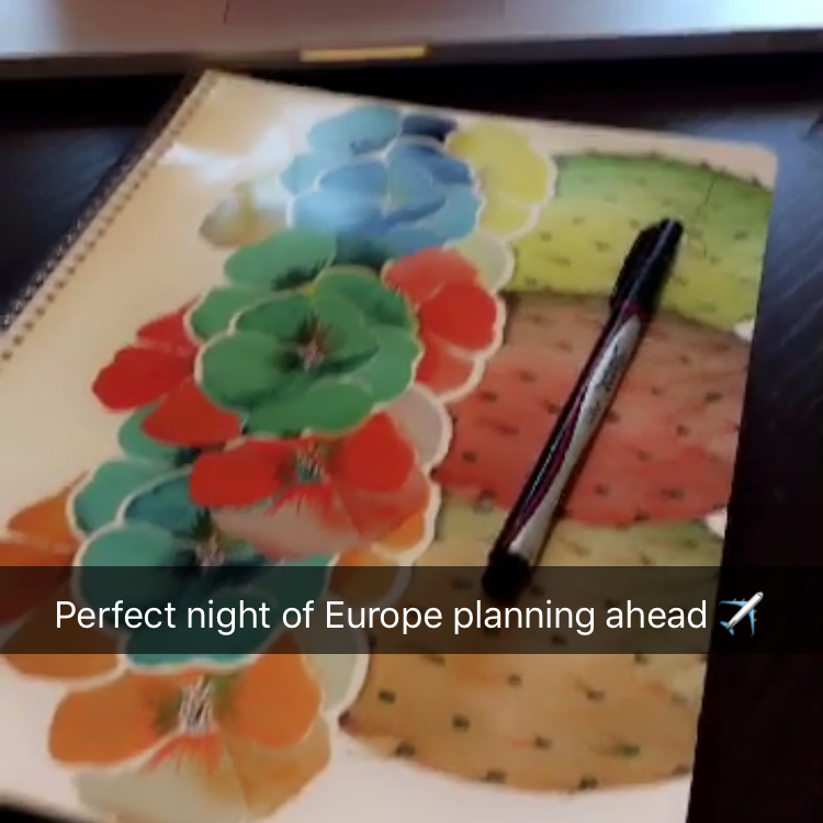 """Perfect night of Europe planning ahead"" - @BrittianySmith"