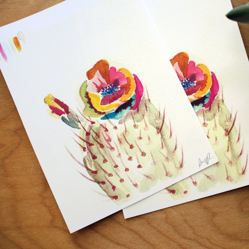 """Technicolor Bloom"" Watercolor from signature ""Technicolor Botanical"" Collection, 2015"