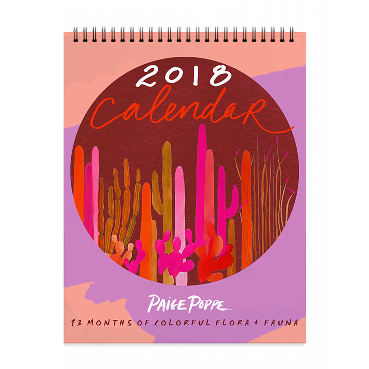 Flora Fauna 2018 Watercolor Wall Calendar.jpg