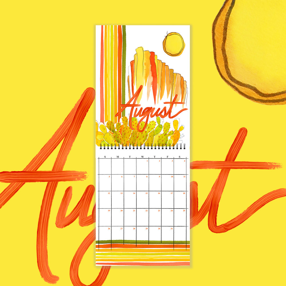 August - Flora Fauna 2018 Watercolor Wall Calendar copy.jpg